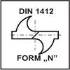 Ostrzenie DIN1412 Form N