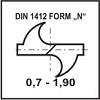 Ostrzenie DIN 1412 Form N
