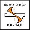 Ostrzenie DIN 1412 Form C