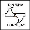 Ostrzenie DIN 1412 Form A