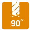 Kąt ostrza 90