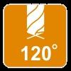 Kąt ostrza 120