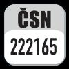 Standard CSN 222165